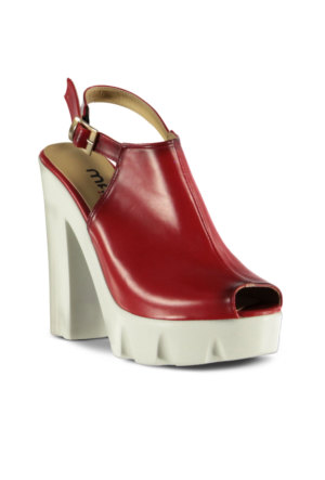 Marjin Retuna Topuklu Sandalet Kırmızı