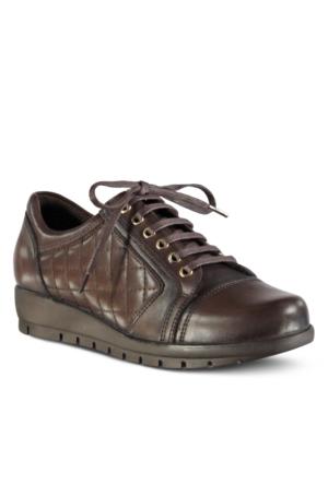 Marjin Orsino Deri Dolgu Topuklu Ayakkabı Kahve