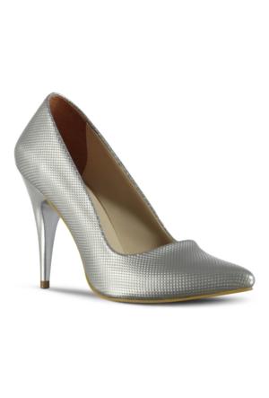 Marjin Leysa Topuklu Ayakkabı Gümüş