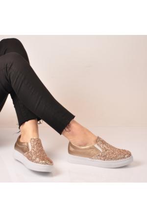 Marjin Luti Slipper Spor Ayakkabı Altın Pul
