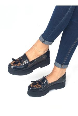 Mio Gusto Leopar Desen Günlük Kadın Ayakkabı