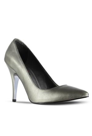 Marjin Siyso Topuklu Ayakkabı Platin