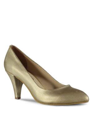 Marjin Divanci Topuklu Ayakkabı Altın
