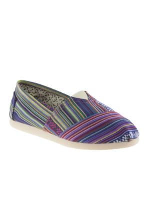 Fiorella 0683-1 Twigy Baskili Espadril Mor Kadın Ayakkabı