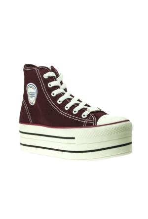 Conakers High Trend Bordo Kadın Ayakkabı