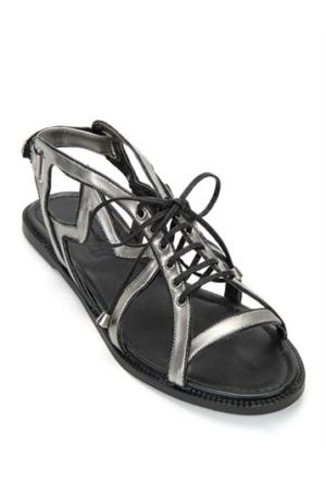 Mizu Kadın Deri Siyah Sandalet Rising Star