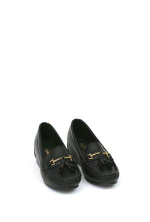 Zerrin Ayakkabı Siyah Bıyık Toka Kadın Ayakkabı-190573