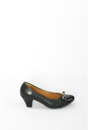 İlker Kundura Siyah Klasik Kadın Ayakkabı-416