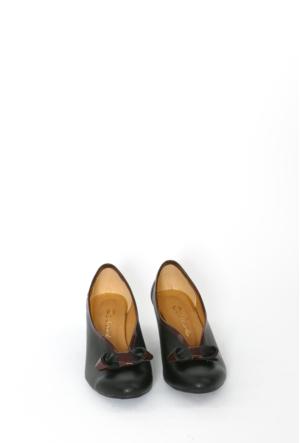İlker Kundura Siyah Klasik Kadın Ayakkabı-420
