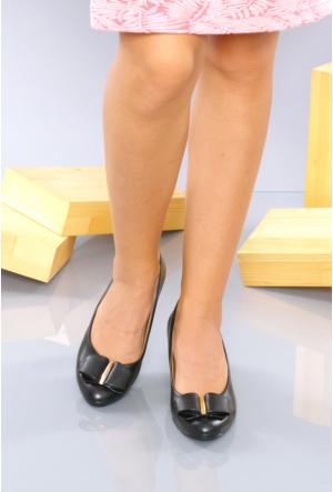 İlker Kundura Siyah Klasik Kadın Ayakkabı-421