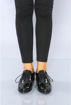 Oflaz Siyah Rugan Günlük Kadın Ayakkabı-Y45