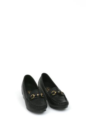 Zerrin Ayakkabı Siyah Taşlı Toka Kadın Ayakkabı-190571
