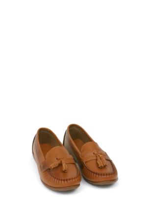 Zerrin Ayakkabı Taba Püsküllü Kadın Ayakkabı-112993