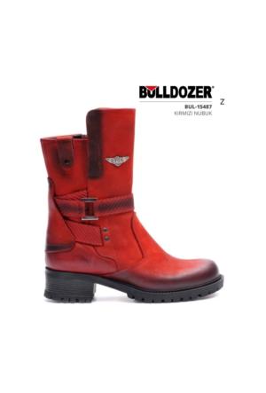 Bulldozer 15487 Kışlık Bayan Bot Kırmızı