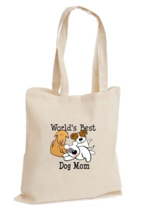 XukX Dizayn World's Best Dog Mom Dünyanın En İyi Köpek Annesi Bez Çanta