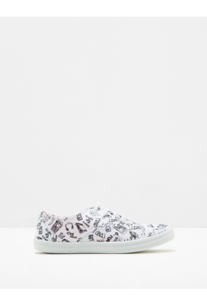 Ole Kadın Desenli Spor Ayakkabı Beyaz