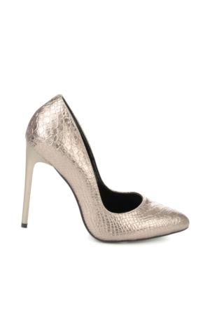 Bambi Kadın Platin Kroko Ayakkabı