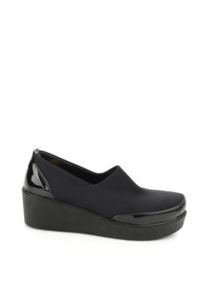 Bambi Kadın Siyah Strec Ayakkabı