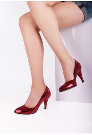 Erbilden Oneiz Kırmızı Parlak Rugan Bayan Stiletto