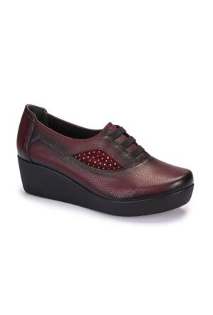 Polaris 5 Nokta 62.109120.Z Bordo Kadın Ayakkabı
