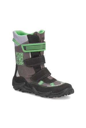 Superfit 3-00071-06 G. Siyah Yeşil Erkek Çocuk Süet Deri Çizme