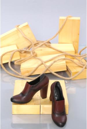 Oflaz Bordo Klasik Bayan Ayakkabı K0557