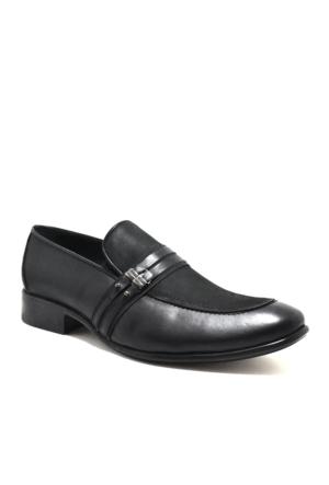 Raker Hakiki Deri Büyük Numara Klasik Siyah Erkek Ayakkabı