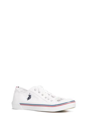 U.S. Polo Assn. Erkek Beyaz Ayakkabı Y6Nars