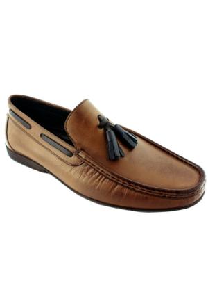Viya 302 Erkek Deri Rok Ayakkabı Taba