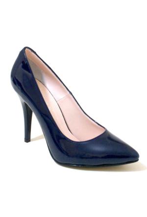 Ayakkabım Çantam 9431 Sivri Burun Kadın Ayakkabı Lacivert