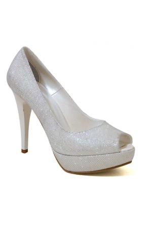 Ayakkabım Çantam 9422 Topuklu Kadın Ayakkabı Sedef