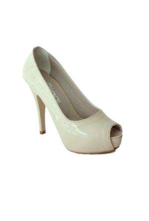 Ayakkabım Çantam 7259 Gizli Platformlu Kadın Ayakkabı Bej