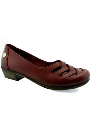 Mammamia D16Ya-570 Kadın Deri Ayakkabı Bordo