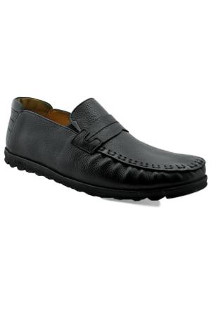 Fratelli 507 Deri Ortopedik Taban Erkek Ayakkabı Siyah