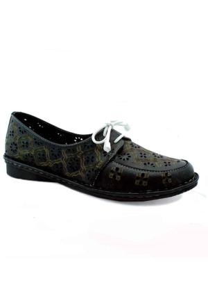 Green Life 2006 Deri Kadın Ayakkabı Siyah