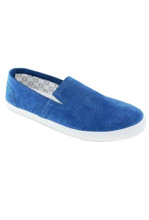 Footcap 8901 Süet Deri Erkek Ayakkabı Mavi