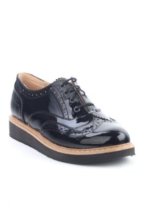 Markazen Oxford Ayakkabı Rugan Çift Yüz - Siyah 02