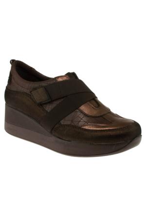 Venüs 20409 Casual Çapraz Cırtlı Kahverengi Kadın Ayakkabı