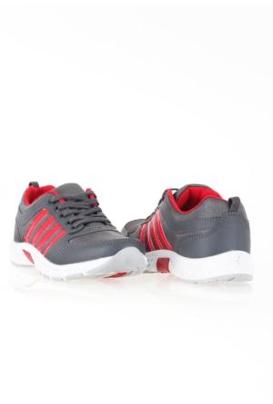 Erbilden Spr Gri Kırmızı Fileli Erkek Spor Ayakkabı