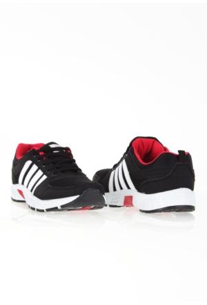 Erbilden Spr Siyah Beyaz Fileli Erkek Spor Ayakkabı
