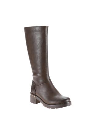 Polaris 52.308071.Z Kahverengi Kadın Çizme