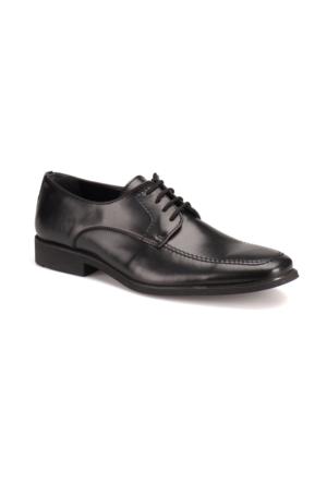 Down Town 4528 M 1602 Siyah Erkek Deri Klasik Ayakkabı