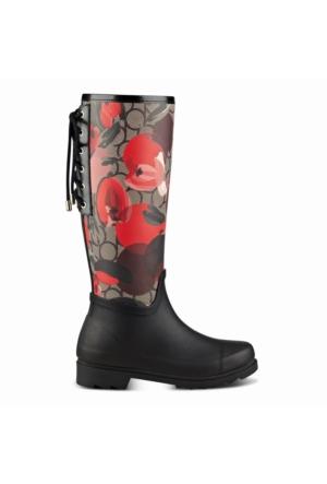 Nine West Nwoops3 Kırmızı/Siyah Multi Plastik Kadın Çizme