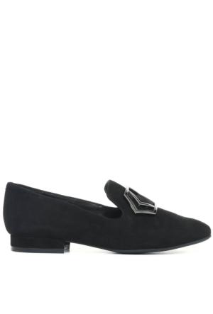 Nine West Nwxample Siyah Gerçek Süet Kadın Ayakkabı