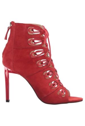 Nine West Nwleslıe Kırmızı Gerçek Süet Kadın Ayakkabı