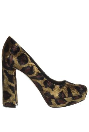 Nine West Nwdelay2 Leopar Kadife Kadın Ayakkabı