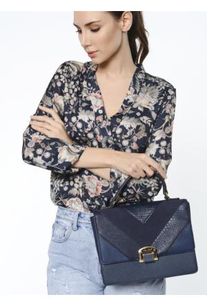 David Jones Kadın Flap Askılı Çanta Lacivert