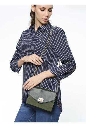 David Jones Kadın Flap Askılı Çanta Yeşil