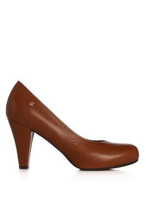 UK Polo Club 64704 Kadın Topuklu Ayakkabı Taba