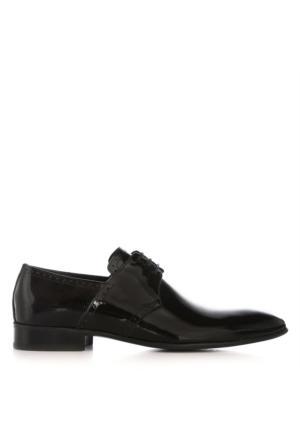 UK Polo Club 74601 Erkek Klasik Ayakkabı Siyah Rugan